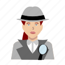 crime, detective, female, girl, hat, police, woman icon