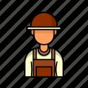 avatar, farmer, male, profile