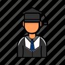 avatar, graduation, male, profile