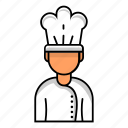 avatar, chef, male, profile