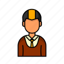 avatar, female, male, profile, teller