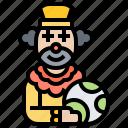 carnival, clown, costume, entertainer, joker icon