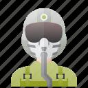 air, force, man, military, pilot icon