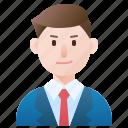 businessman, male, person, smart, suit icon