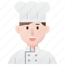 chef, cook, cuisine, food, man icon