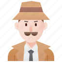 agent, detective, investigator, man, spy icon