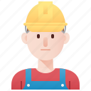 constructor, electrician, man, technician, worker icon