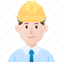 architecture, builder, constructor, engineer, man icon