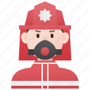 danger, emergency, firefighter, fireman, protective icon