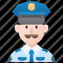 cop, guard, man, policeman, security icon