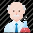 chemist, experiment, genius, professor, scientist icon