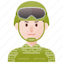 army, man, military, protector, soldier icon