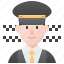 driver, man, service, taxi, transporter icon