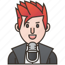 microphone, musician, rock, singer, song icon