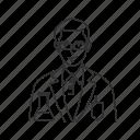 chemist, expirement, lab technician, laboratory, male, professionals, scientist icon