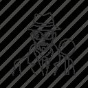 detective, investigator, male, male detective, profession, professionals, prosecutor icon