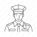 male, male officer, officer, police, policeman, profession, professionals icon
