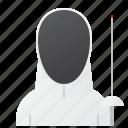 avatar, fencing, man, player, sport icon