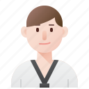 avatar, man, player, sport, taekwondo icon