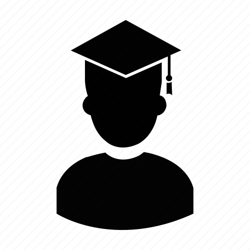 graduate, graduation, male, men, profile, user, worker icon