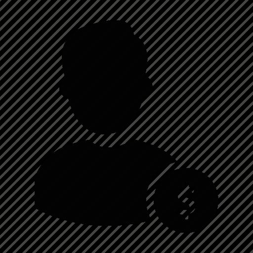 labour, male, money, person, profile, user, worker icon