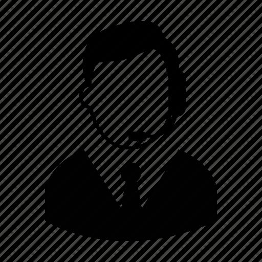 headset, male, men, person, profile, user, worker icon