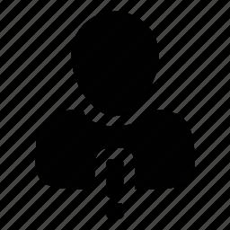 alert, man, profile, user, warning icon