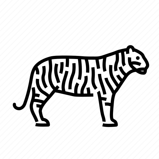 animal, animals, bengal, mammal, tiger, wild icon