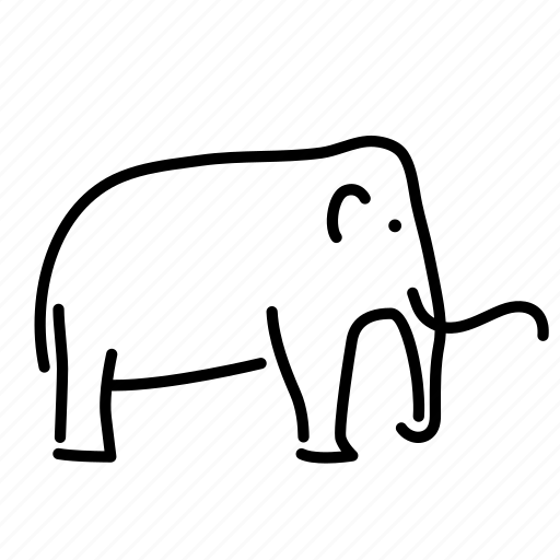 animal, extinct, mammal, mammoth, megafauna, prehistoric icon