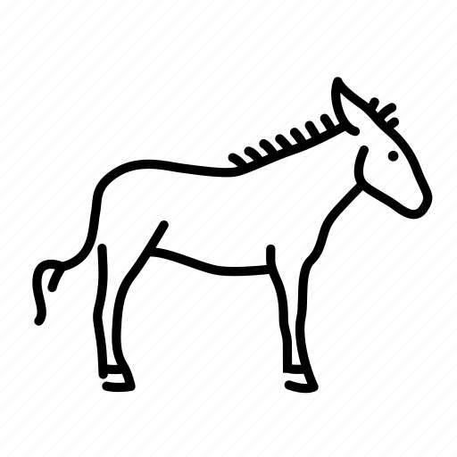 animal, animals, donkey, farm, horse, mammal icon