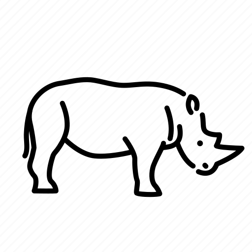animal, mammal, nature, rhino, rhinoceros, wild icon