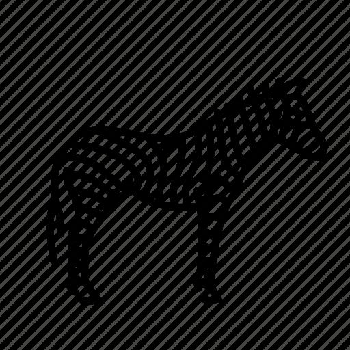 animal, horse, mammal, nature, wild, zebra icon