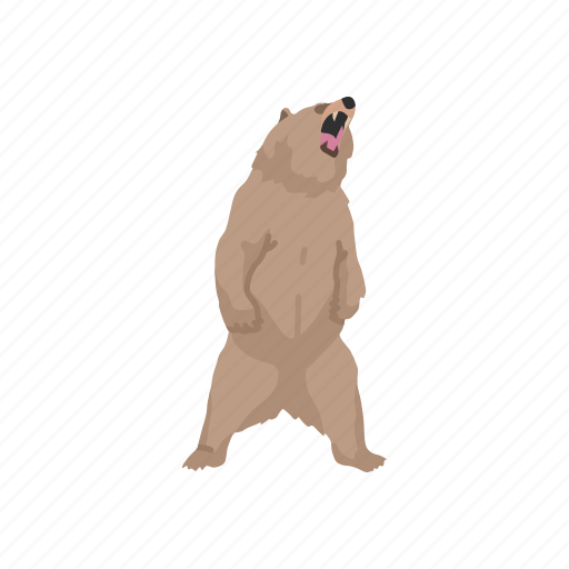 animal, bear, brown bear, grizzly, grizzly bear, mammal icon