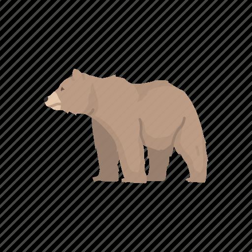 animal, bear, brown bear, grizzly, grizzly bear, mammal, wild bear icon