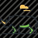 rhinoceros, animal, rhino, wild icon