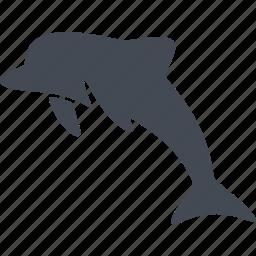 animal, dolphin, mammals, marine mammal icon
