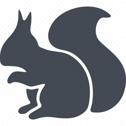 animal, mammals, squirrel, tail icon