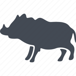 animal, boar, mammals, wild boar icon