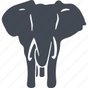 animal, ears, elephant, mammals, tusks icon