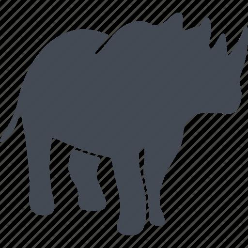 animal, mammals, nature, rhinoceros icon