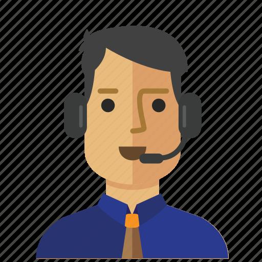 Avatar, customer, man, operator, service, staff icon - Download on Iconfinder