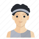 avatar, boy, gym, man, occupation, smile icon