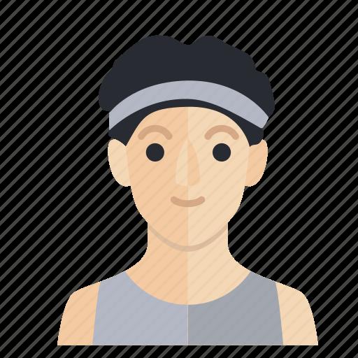avatar, boy, gym, man, occupation, smile icon