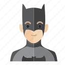 avatar, batman, boy, man, occupation, smile icon