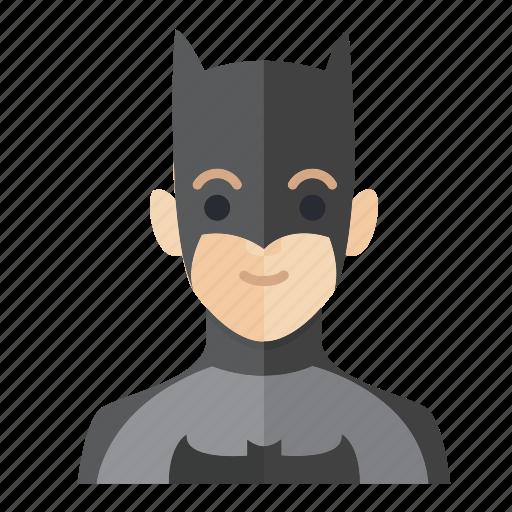 avatar, batman, boy, man, occupation, smile icon