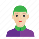 avatar, boy, joker, man, occupation, smile icon