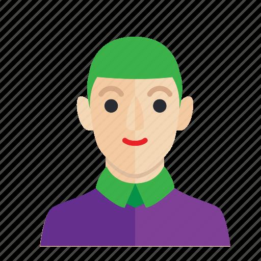 avatar, boy, joker, man, occupation, smile icon