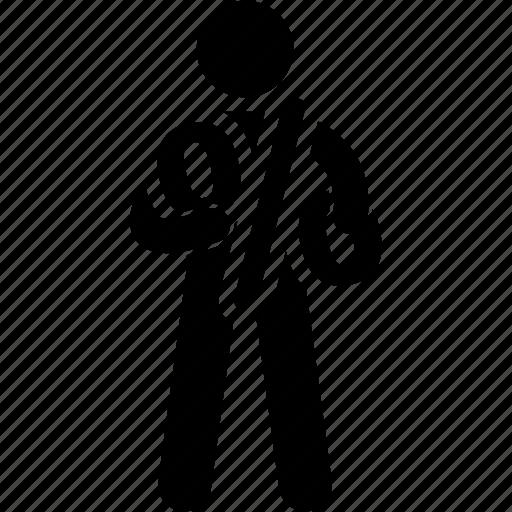 holding, man, percent icon