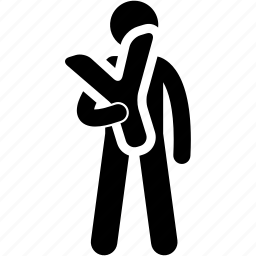 alphabet, holding, man, y icon