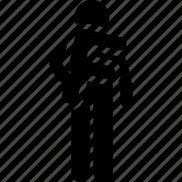 alphabet, f, holding, man icon